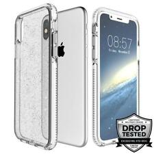 Prodigee SuperStar iPhone X and Xs White Case Sparkle Glitter Clear Drop Tested