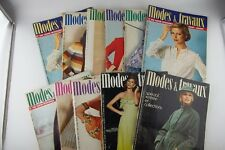 Lot of 11 Modes et Travaux 1975 Fashion Magazines Pattern Paris France French