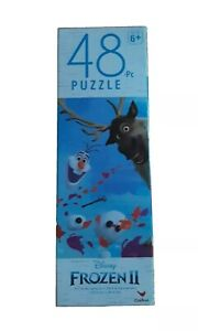 "Disney Frozen II Anna & Elsa Puzzle 48 Piece 9.1"" X 10.3"" Jigsaw Childrens NEW"
