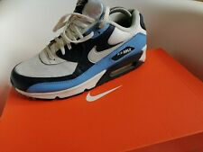 Nike air max 90 Men's Trainers Size 8 authentic 100% white blue