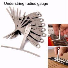 9pcs Guitar Under String Radius Gauge Setup Luthier Stainless Steel Tools Set