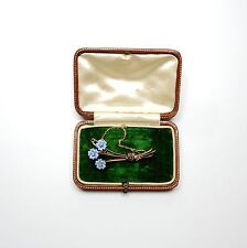 French enamel and diamond brooch circa 1950 18 carat gold
