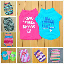 Summer Various Pet Puppy Small Dog Cat Pet Kiss Me Camouflag Shirt Vest Apparel