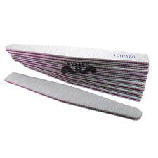 S78C-50 Pcs Nail Art Sanding File 100/180 Gray Rhombus Manicure Salon