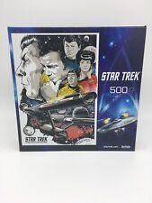 60's Star Trek Buffalo Games 500 Piece Jigsaw Puzzle- Captain Kirk, Spock NEW