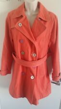 Boden Ladies 100% Cotton Belted Casual Buttoned Coat Orange (UK 12)