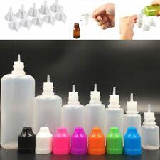 3ml-120ml Plastic Empty Squeezable Liquid Eye Dropper Bottles w/ Funnels
