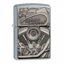 Harley-Davidson Motor Flag Emblem Street Chrome Zippo Lighter - Us Shipping