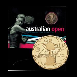 N2012 $1 Australian Open Women's Uncirculated Al/Br Coin in Card