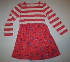 New Gymboree Puppy Dog Print Coral Ivory Striped Dress Size 4T NWT Mix N Match