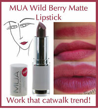 MUA Makeup Academy Lipstick Matte Wild Berry Burgundy Dark Red Vamp Celebrity