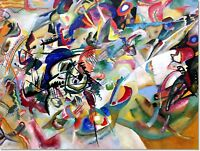 Stretched Canvas - Composition VII Painting by Wassily Kandinsky Reproduction