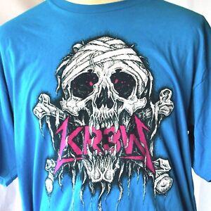 KR3W Krew Skull Crossbones Bandage T-Shirt XL Mens Skateboarding Evil TSA Cabada