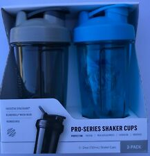 Blender Bottle Pro Series Shaker Bottle Rounded Base with Spout Guard 2 Pk