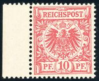 DR 1890, MiNr. 47 b, tadellos postfrisch, gepr. Wiegand, Mi. 120,-