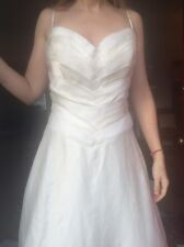 wedding gown: size 12, 100% silk, never worn or altered