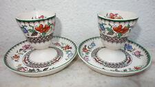 SPODE 🌹 Chinese Rose - 2 Eierbecher mit Untertellern  - 2 Eggcups with saucers