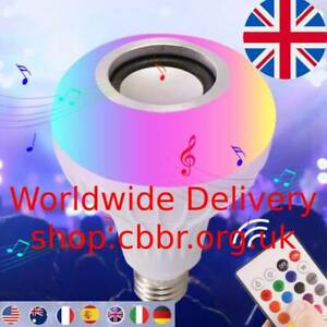 Bluetooth Light Bulb Speaker Smart LED RGB Color Bulb Light E27 with Remote Cont