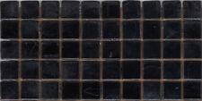 50pcs NP6 Black Pearl Natura Glass Mosaic Tiles Iridescent 15x15x4mm Paperfaced