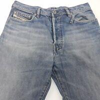 Diesel LOOXE Mens Vintage Jeans W30 L31 Blue Regular Fit Straight High Rise