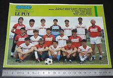 CLIPPING POSTER FOOTBALL 1987-1988 D2 CO LE PUY EN VELAY CHARLES-MASSOT