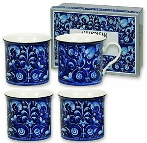 Heath McCabe Set Of 4 Blue Mugs - Ashmolean Maiolica Collection - Maiolica Blu