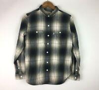 Levis Women's Size M Plaid Long Sleeve Boyfriend Fit Button Up Shirt