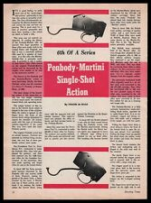 1962 Peabody-Martini Rifle Single-Shot Action 4-page Article
