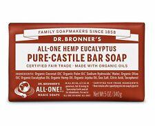 Dr Bronner Commerce Équitable Pur Eucalyptus Savon de Castille 140g - sans