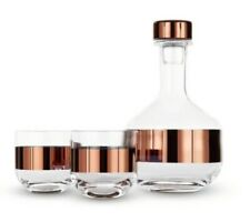 Tom Dixon Mouth Blown Tank Copper Whiskey Set with Decanter and 2 glasses