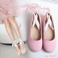 Sweet Ballerina Strappy Bandage Womens Hot Casual Flats Lace Up Mary Janes Shoes