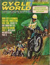 Cycle World Magazine February 1966 European Moto-Cross Review 080417nonjhe