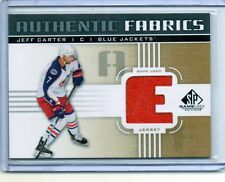 JEFF CARTER Blue Jackets 2011/12 SP Game Used Authentic Fabrics Jersey Card