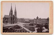 1894 VOTIVE CHURCH VIENNA, AUSTRIA NEO-GOTHIC ARCHITECTURE, VINTAGE CABINET CARD