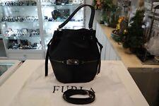 Furla Women's Black Viva Small Drawstring Bucket Bag NEW CONDITION