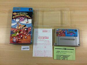 ub6154 Mickey & Minnie Magical Adventure 2 BOXED SNES Super Famicom Japan