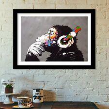 banksy monkey poster print all sizes banksy art deco banksy modern,