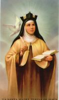 ST. TERESA OF AVILA - Laminated  Holy Cards.  QUANTITY 25 CARDS
