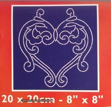 Heart Shape Valentine Stencil Dmc Linea Quilting/ Embellishment Floral New