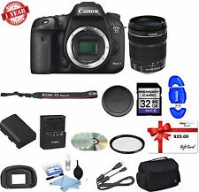 Canon EOS 7D II Digital SLR Camera with 18-135mm STM Lens Bundle NEW!