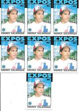 ANDRES GALARRAGA 1986 TOPPS TRADED (6) CARD ROOKIE LOT EXPOS FREE COMBINED S/H