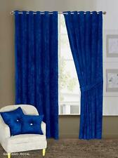 Thick Crushed Velvet Ready Made Eyelet Ring Top Santiago Curtains (PAIR )