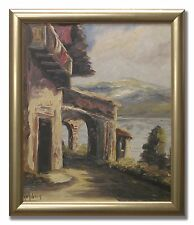 ALLAN ÅSBERG *1907-1952 / PICTURE FROM ITALY - Original Swedish Oil Painting