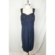 6f8e1deb25f40 R   M Richards Womens Plus Size 20W Navy Sequin Sleeveless Cocktail Dress