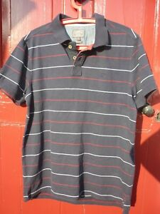 Mens Fat Face Polo Shirt Size Large