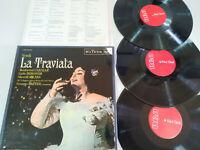 """La traviata Verdi Montserrat Caballe Bergonzi 1968 - 3 x LP Vinilo 12"""" VG/VG"""
