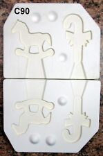 Riverview #422 Two Christmas Ornaments Ceramic Mold (C90)