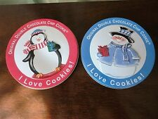 Cookie Tin 2 oz Chocolate Chip Penguin snowman Round Empty Holds 1 Lg Cookie