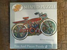 NEW!!!Shaped Puzzle, Bits and Pieces Puzzle 750,Vintage Ride, Ruane Manning