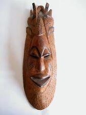 Ältere Holzmaske aus Afrika Teakholz hand-geschnitzt 44 cm hoch